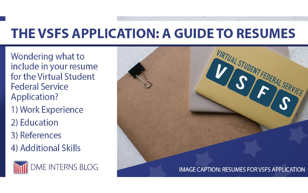 The VSFS Application: A Guide to Resumes